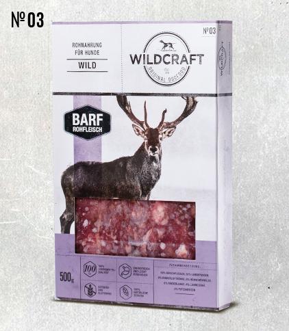 WILDCRAFT BARF hochwertiges Frostfutter Fleischmix Hirsch