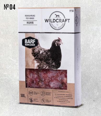 WILDCRAFT BARF hochwertiges Frostfutter Fleischmix Huhn