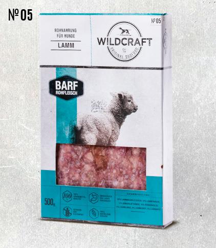 WILDCRAFT BARF hochwertiges Frostfutter Fleischmix Lamm