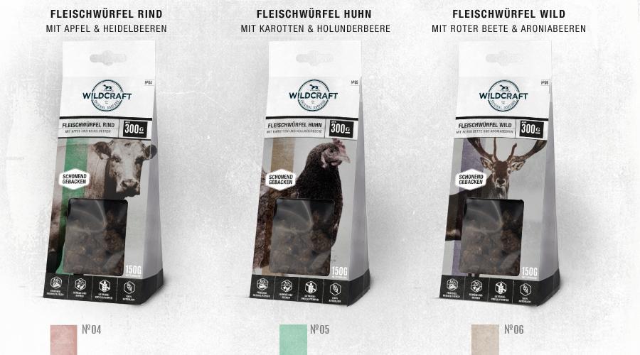 WILDCRAFT Hundesnack Fleischwürfel Sortiment