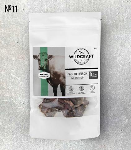 WILDCRAFT Hundesnack luftgetrocknet Rind Muskelfleisch