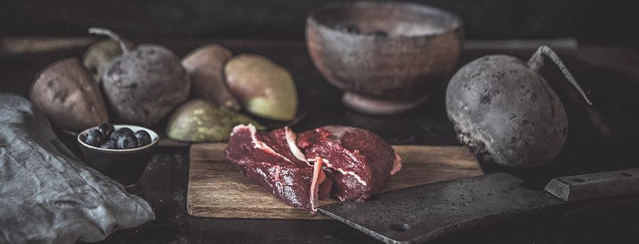 WILDCRAFT beste Zutaten frisches Hirschfleisch